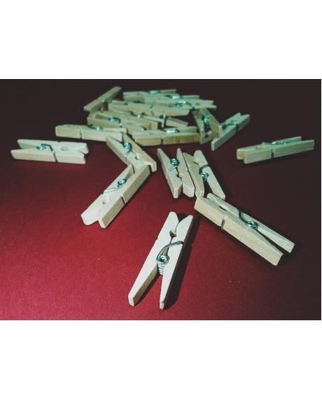 Cleme lemn 3x0.4 cm (25 buc/set)