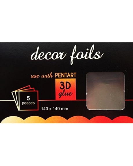 Folie decor metalizat argint