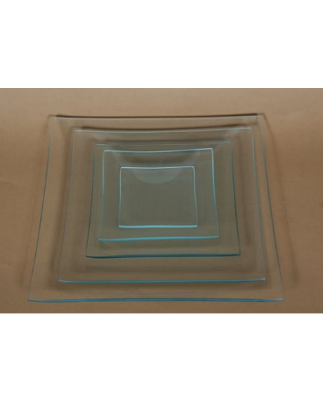 Platou sticla patrat 25x25 cm
