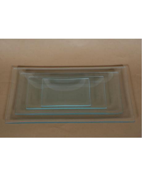 Platou sticla dreptunghiular 8x16 cm