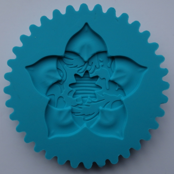 Mulaj din silicon, rozeta floare top cupcake