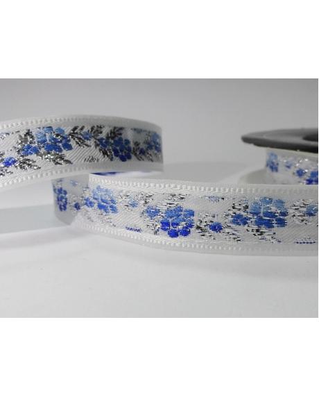 Panglica decor,floricele albastre