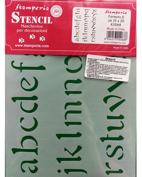 Sablon plastic flexibil - Litere