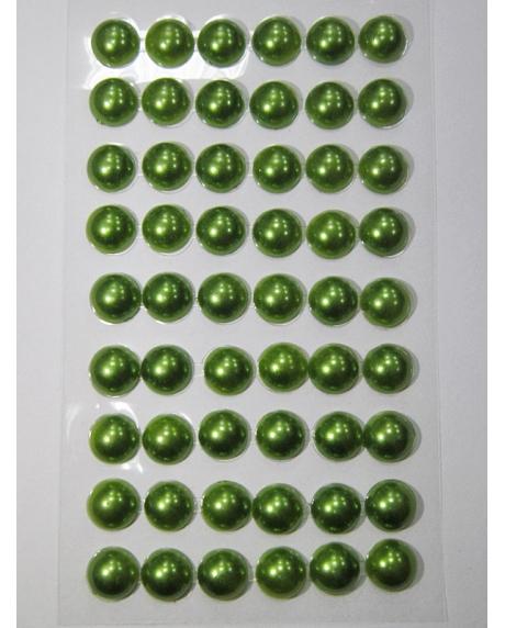 Perle jumatati AA. 10 mm(54 buc) verde mar