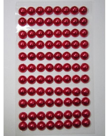 Perle jumatati AA. 8 mm(88 buc) rosu