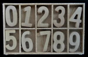 Cifre din lemn 3.5 cm