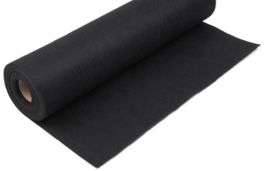 Rola fetru negru 1mm grosime