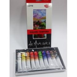 Set culori tempera pt artisti (22 ml/tub)