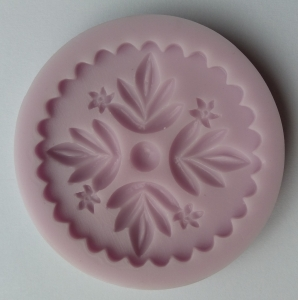Mulaj din silicon - floare de canepa top cupcake