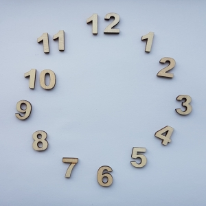 Cifre arabe din lemn pt ceas