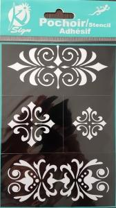 Sablon flexibil autoadeziv, modele decorative