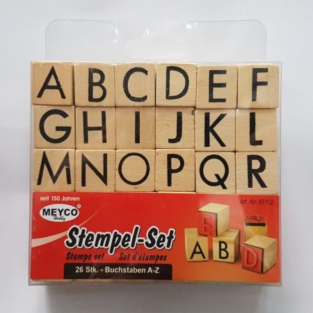 Stampile din lemn - Alfabet