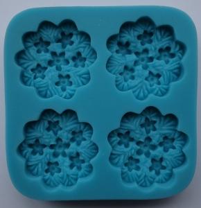 Mulaj din silicon, medalion-floare