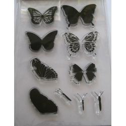 Stampila silicon fluturi