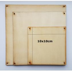 placute lemn 10x10cm perforate la colturi
