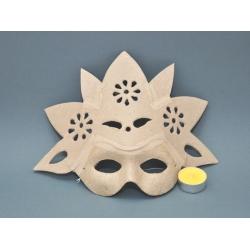 Masca venetiana din carton presat floare