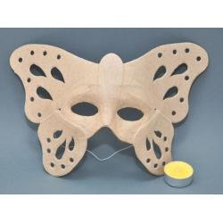 Masca venetiana din carton presat fluture