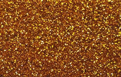 Decorcauciuc cu sclipici A4 autoadeziv auriu