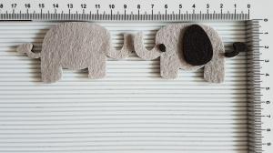 Figurina din fetru - elefant