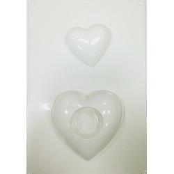 Forma pentru turnat ipsos (ghips) suport lumanari inimioare