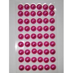 Perle jumatati AA. 10 mm(54 buc) magenta