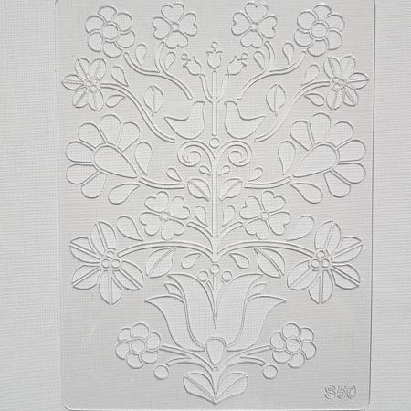 Sablon plastic - Floral