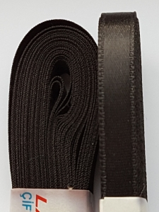 Saten negru 20 mm